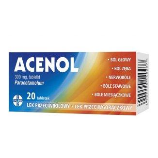 Acenol 300 mg, 20 tabletek - zdjęcie produktu