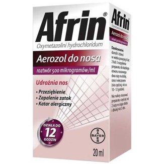 Afrin 500 mcg/ ml, aerozol do nosa, roztwór, 20 ml - zdjęcie produktu