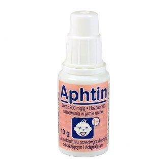 Aphtin 200 mg/ g, roztwór do stosowania w jamie ustnej, 10 g - zdjęcie produktu