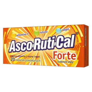AscoRutiCal Forte, 20 tabletek powlekanych - zdjęcie produktu