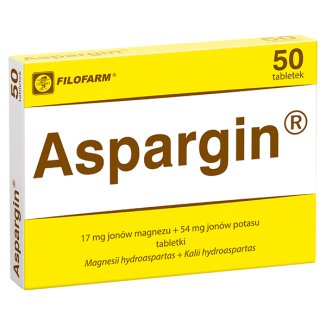 Aspargin 17 mg + 54 mg, 50 tabletek - zdjęcie produktu