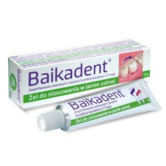 Baikadent 5,77 mg/ g, żel do stosowania w jamie ustnej, 15 g - zdjęcie produktu