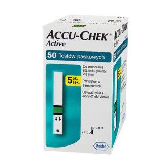 Accu-Chek Active, paski testowe do glukometru, 50 sztuk - zdjęcie produktu