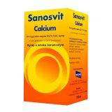 Calcium Sanosvit 114 mg/ 5 mg, syrop, smak bananowy, 150 ml - miniaturka zdjęcia produktu
