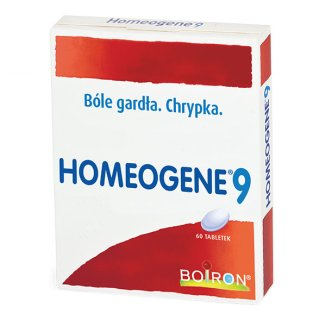 Boiron Homeogene 9, 60 tabletek - zdjęcie produktu