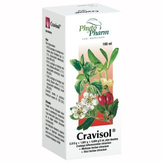 Cravisol (2,313 g + 1,601 g + 0,694 g )/ 5 ml, płyn doustny, 100 ml - zdjęcie produktu