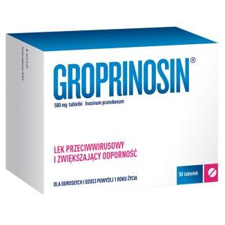 Groprinosin 500 mg, 50 tabletek - zdjęcie produktu