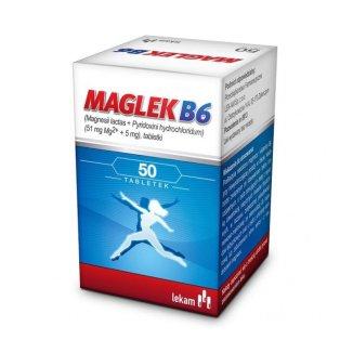 Maglek B6 51 mg + 5 mg, 50 tabletek - zdjęcie produktu