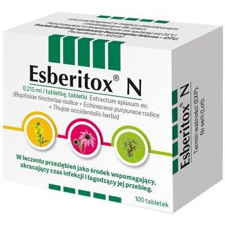 Esberitox N 10 mg + 7,5 mg + 2 mg, 100 tabletek - zdjęcie produktu