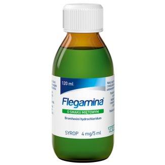 Flegamina 4 mg/ 5 ml, smak miętowy, syrop, 120 ml - zdjęcie produktu
