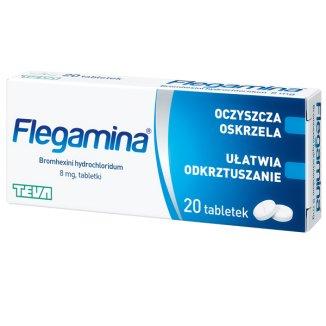 Flegamina 8 mg, 20 tabletek - zdjęcie produktu