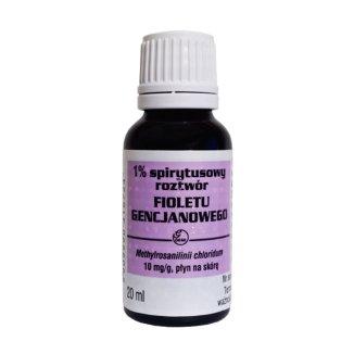 1% Spirytusowy roztwór fioletu gencjanowego Gemi 10 mg/ g, płyn na skórę, 20 ml - zdjęcie produktu