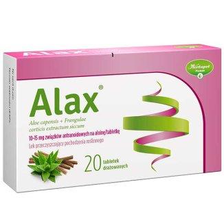 Alax 35 mg + 42 mg, 20 tabletek drażowanych - zdjęcie produktu