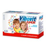 Vibovit Junior, 4-12 lat, smak truskawkowy, 30 saszetek - miniaturka zdjęcia produktu