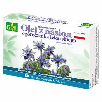 GAL Biogal, zimnotłoczony olej z nasion ogórecznika lekarskiego, 60 kapsułek elastycznych - zdjęcie produktu