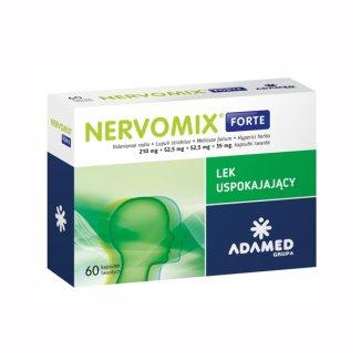 Nervomix Forte 210 mg + 52,5 mg + 52,5 mg + 35 mg, 60 kapsułek twardych - zdjęcie produktu