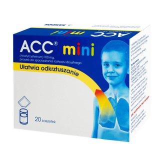ACC Mini 100 mg, proszek do sporządzania roztworu doustnego, 20 saszetek - zdjęcie produktu