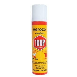 100P, aerozol ochronny przeciw ukąszeniom komarów, kleszczy i meszek, 75 ml - zdjęcie produktu
