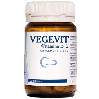 Vegevit, witamina B12 5µg, 100 tabletek - zdjęcie produktu