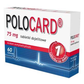 Polocard, 75 mg, 60 tabletek - zdjęcie produktu