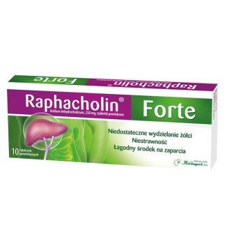Raphacholin forte 250 mg, 10 tabletek powlekanych - zdjęcie produktu