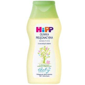 HiPP BabySanft Sensitive, oliwka pielęgnacyjna od 1 dnia życia, 200 ml - zdjęcie produktu