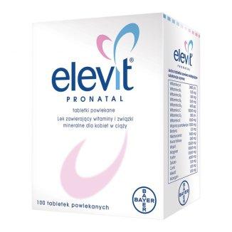 Elevit Pronatal, 100 tabletek powlekanych - zdjęcie produktu