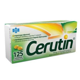 Cerutin 100 mg + 25 mg, 125 tabletek  - zdjęcie produktu