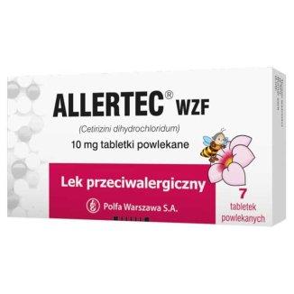 Allertec WZF 10 mg, 7 tabletek powlekanych - zdjęcie produktu