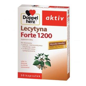 Doppelherz Aktiv, Lecytyna 1200 Forte, 30 tabletek - zdjęcie produktu