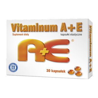 Vitaminum A + E, 30 kapsułek elastycznych - zdjęcie produktu