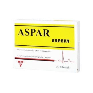 Aspar Espefa 250 mg + 250 mg, 50 tabletek - zdjęcie produktu