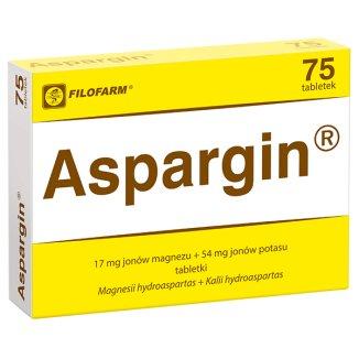 Aspargin 17 mg + 54 mg, 75 tabletek - zdjęcie produktu