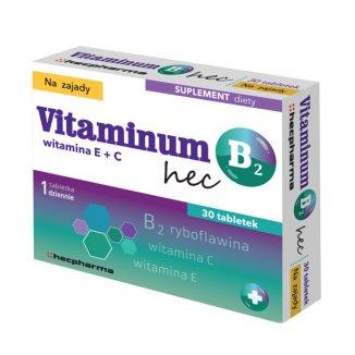 Vitaminum B2 Hec, na zajady, 30 tabletek - zdjęcie produktu