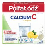 Laboratoria PolfaŁódź Calcium C, smak cytrynowy, 16 tabletek musujących - miniaturka zdjęcia produktu