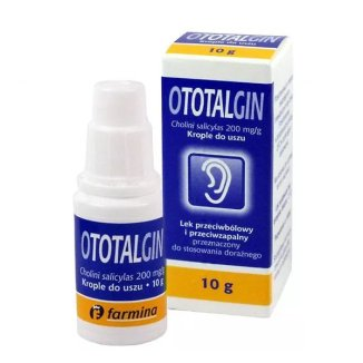 Ototalgin (200 mg/ g), krople do uszu, 10 g - zdjęcie produktu