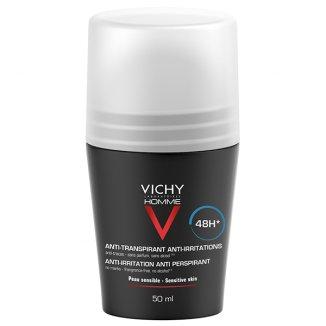 Vichy Homme, antyperspirant roll-on, 48-godzinna ochrona, 50 ml - zdjęcie produktu