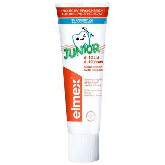 Elmex Junior, pasta do zębów dla dzieci 6-12 lat, z aminofluorkiem, 75 ml - zdjęcie produktu