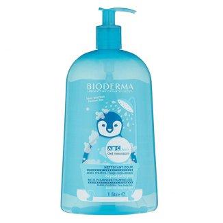 Bioderma ABCDerm Gel Moussant, łagodny żel myjący dla niemowląt i dzieci, do włosów i ciała, 1 L - zdjęcie produktu