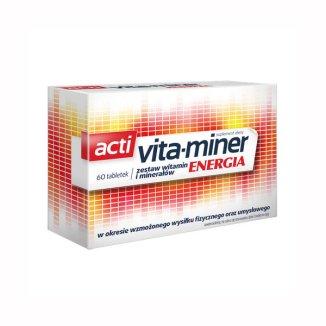 Acti Vita-Miner Energia, 60 tabletek - zdjęcie produktu