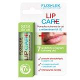 Flos-Lek Lip Care, pomadka ochronna z witaminami A + E, 1 sztuka - miniaturka zdjęcia produktu
