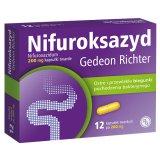 Nifuroksazyd Gedeon Richter 200 mg, 12 kapsułek twardych - miniaturka zdjęcia produktu