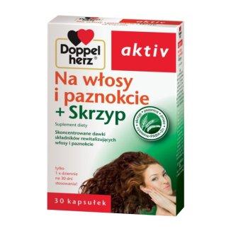 Doppelherz Aktiv Na włosy i paznokcie + skrzyp, 30 tabletek - zdjęcie produktu
