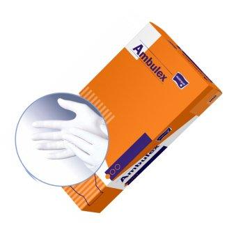 Ambulex, rękawice lateksowe, niejałowe, rozmiar S, 100 sztuk - zdjęcie produktu