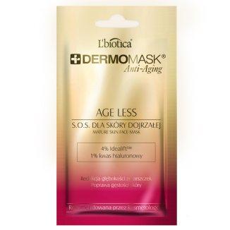 L'Biotica Dermomask Anti-Aging 40+, maseczka dermatologiczna, przywracanie gęstości skóry, 12 ml - zdjęcie produktu