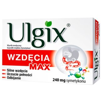 Ulgix Wzdęcia Max 240 mg, 30 kapsułek miękkich - zdjęcie produktu