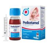 Pedicetamol 100 mg/ ml, roztwór doustny dla dzieci i niemowląt od urodzenia, 60 ml - miniaturka zdjęcia produktu