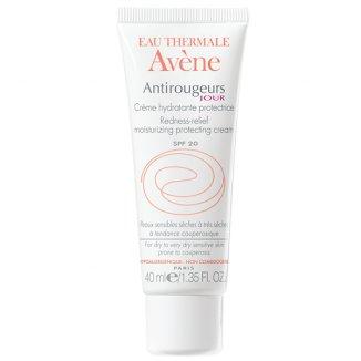 Avene Antirougeurs Jour, krem nawilżający-ochronny do skóry naczynkowej, SPF20, 40 ml - zdjęcie produktu