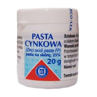 Pasta cynkowa 25%, pasta na skórę, 20 g - zdjęcie produktu