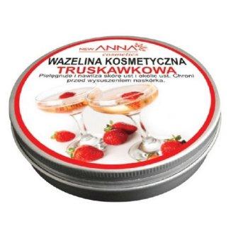 New ANNA Cosmetics, Wazelina kosmetyczna truskawkowa, 15 g - zdjęcie produktu